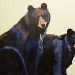 Mountainland Pediatrics murals, aspens, bears, columbine, trout