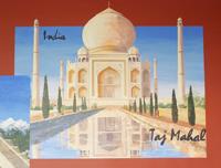 hand painted murals, boulder, murals, taj mahal, platt middle school library