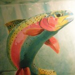 trout stream powder room
