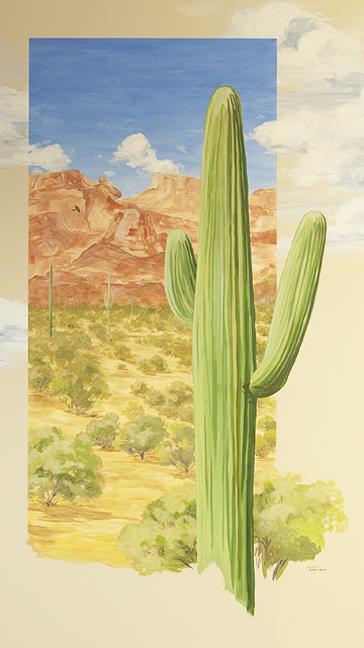 hand painted mural, mountains, ocean, desert, prairie,