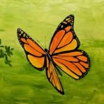 hand painted murals by Boulder Murals, monarch butterfly