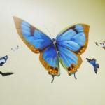 Mountainland Pediatric Center butterfly mural by boulder Murals