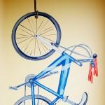 hand painted mural of bike by Boulder Murals, Good Samaritan Medical Center