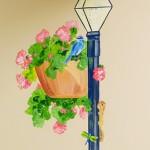 hand painted mural of flowers by Boulder Murals, Good Samaritan Medical Center
