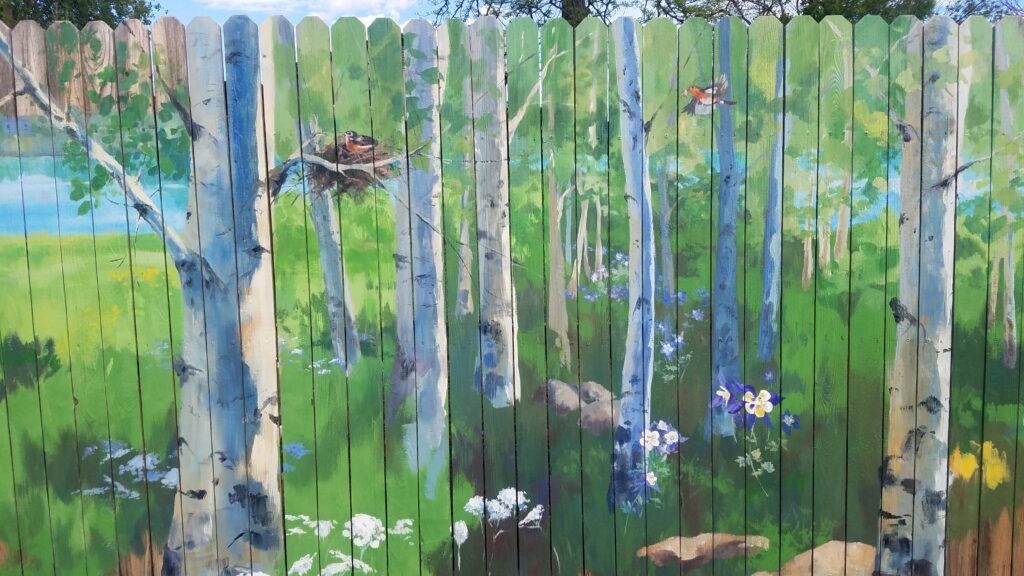 mural on Fence colorado