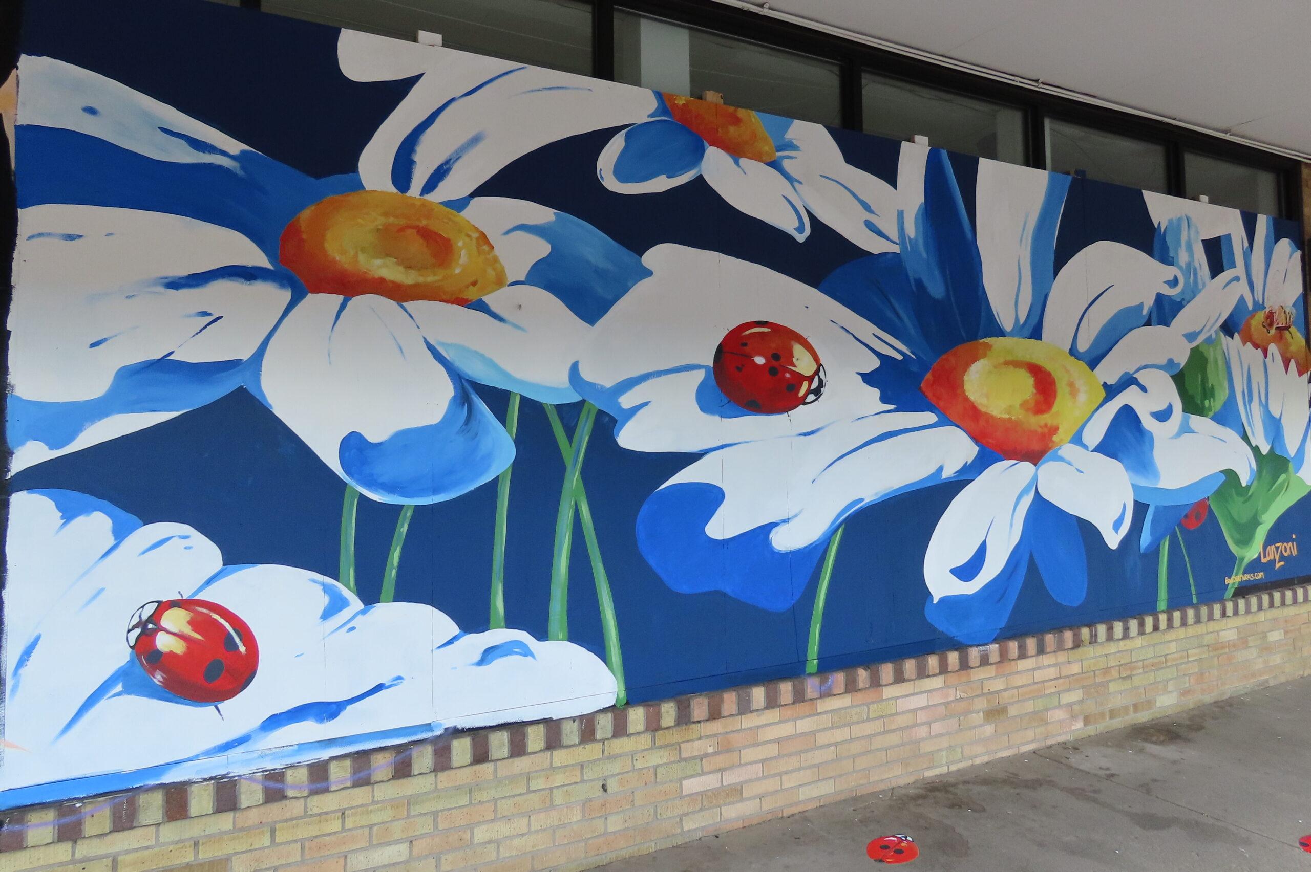 Daisy Mural on wall
