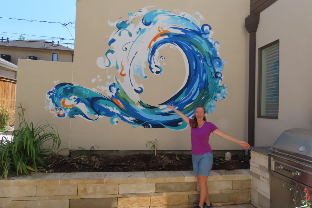 Enso Circle -Ocean Theme in Patio Courtyard