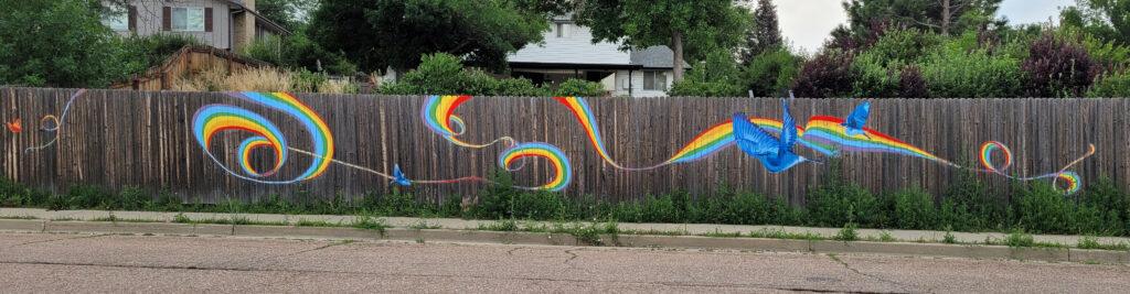 Neighborhood Rainbow Mural